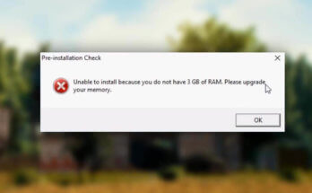 Unable to install because you do not have 3 GB of RAM