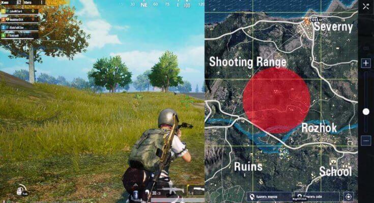 что такое красная зона в pubg mobile
