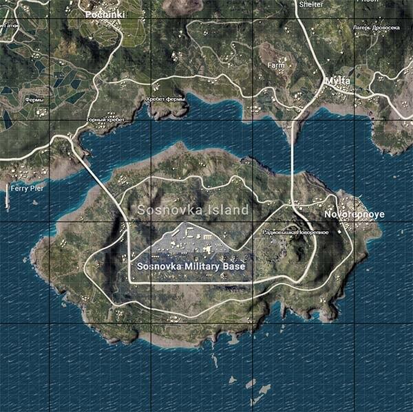 Карта Military Base PUBG