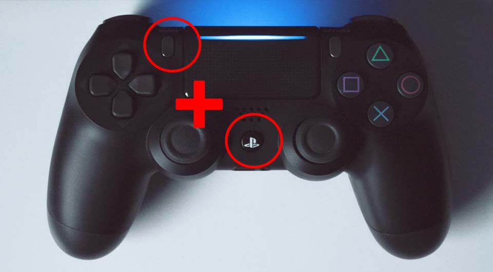 dualshock 4 share + ps