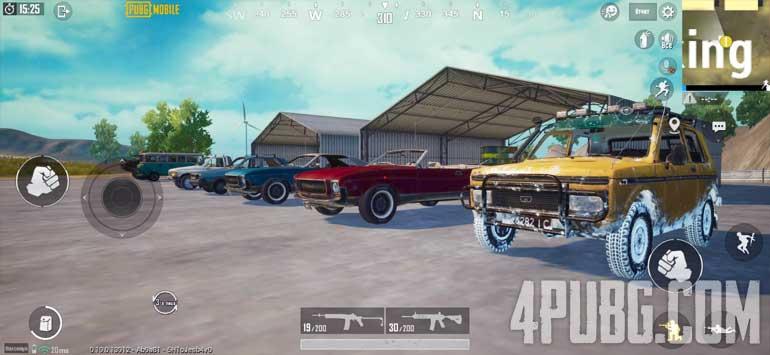 Машины в PUBG Mobile