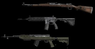 PUBG Kar98k, M416 и SKS