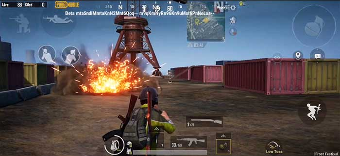PUBG Mobile 1.1 Взрыв гранаты