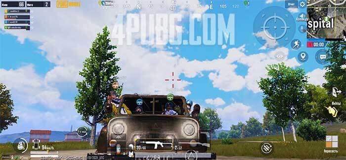 PUBG Mobile поездка на UAZ
