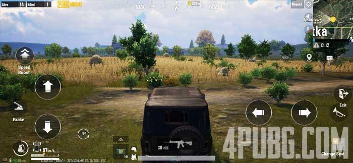 PUBG Mobile поездка на машине