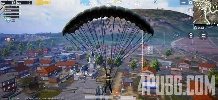 PUBG Mobile приземление с напарником