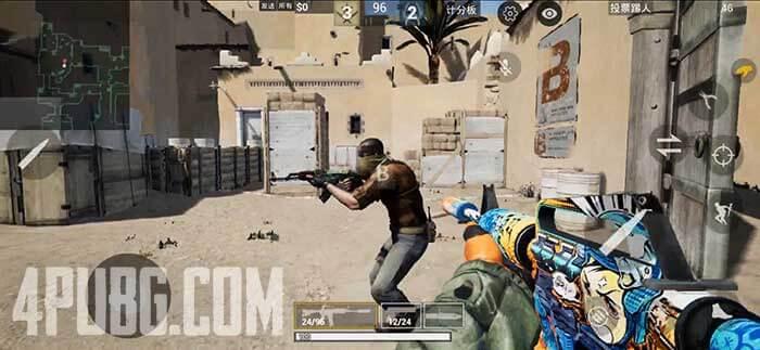 CS GO Mobile Игровой процесс Dust 2, точка B