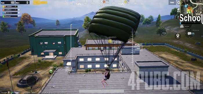 PUBG Mobile Прыжок на школу
