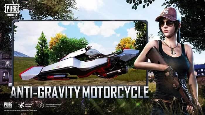 Антигравитационный мотоцикл в PUBG Mobile