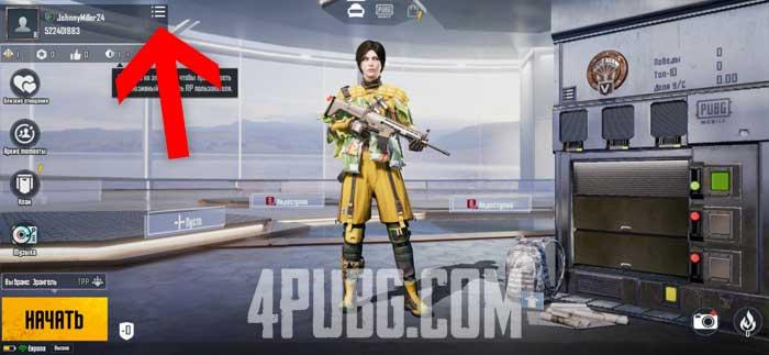PUBG Mobile профиль игрока
